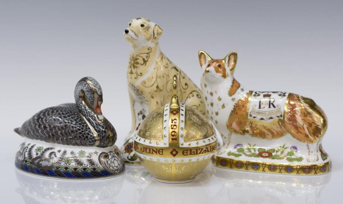 (4) ROYAL CROWN DERBY LIMITED EDITION PAPERWEIGHTS