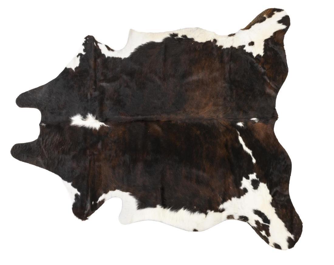 "COWHIDE, BROWN, BLACK, WHITE, 73"" x 69"""
