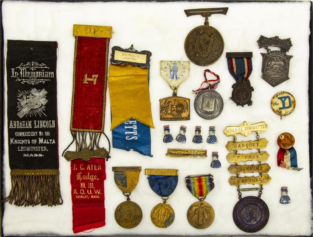 (16) CIVIL WAR G.A.R. & WWI, CITY MEDALS