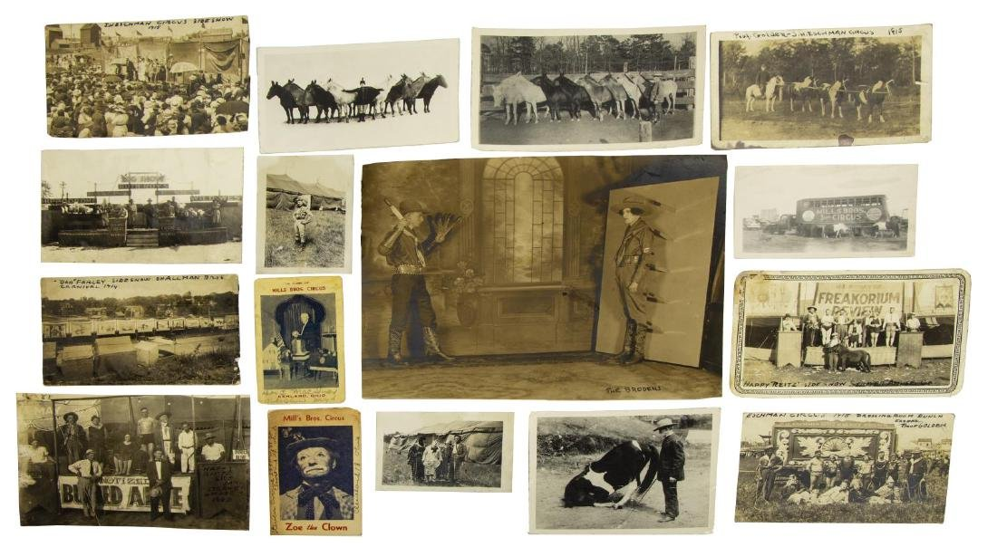 (16) VINTAGE CIRCUS & SIDESHOW PICTURES - 3