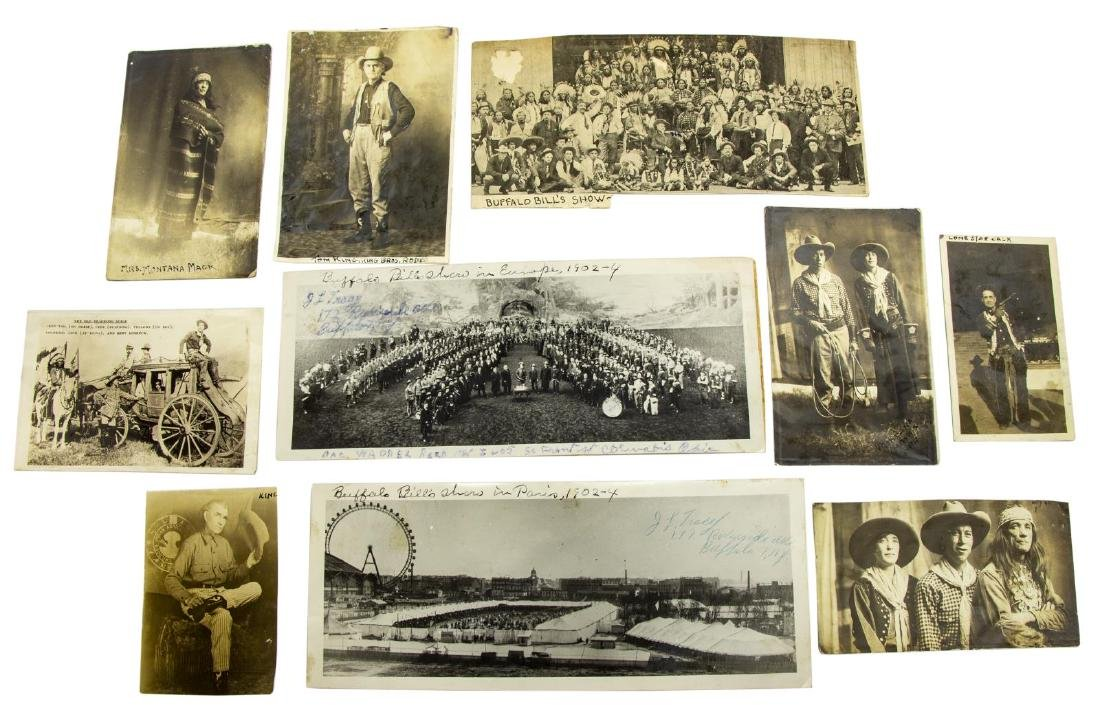 (10) RODEO BUFFALO BILL, PHOTO CARDS & CLIPPINGS - 2