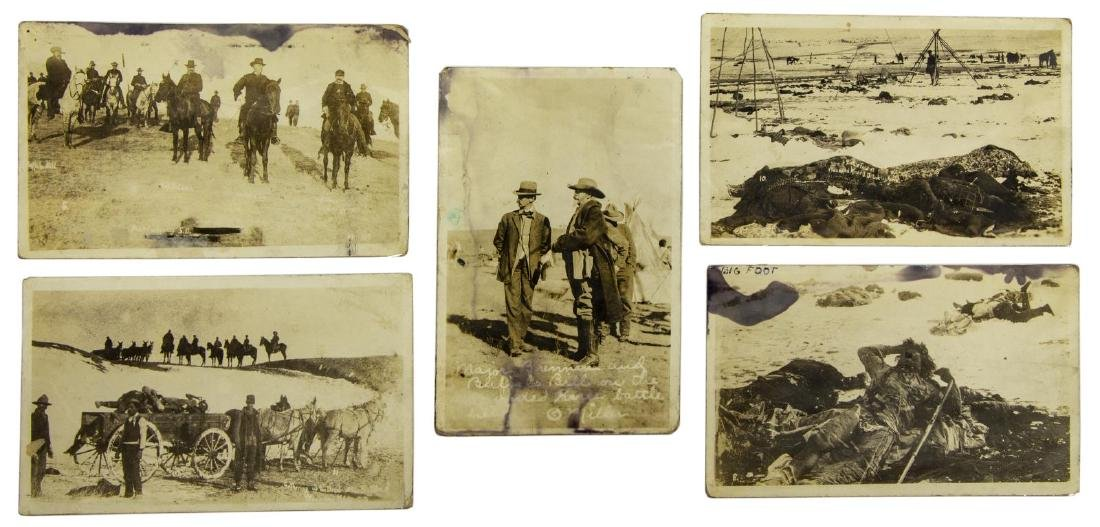 (5) POSTCARD PICTURES, WOUNDED KNEE MASSACRE - 2