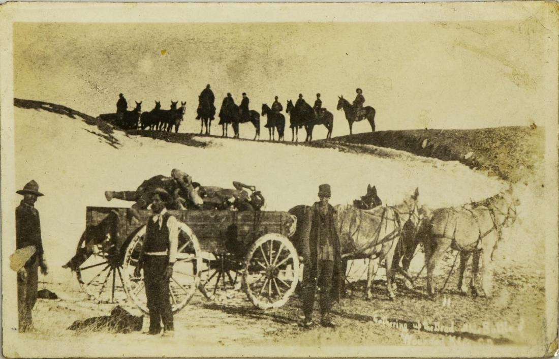 (5) POSTCARD PICTURES, WOUNDED KNEE MASSACRE - 3