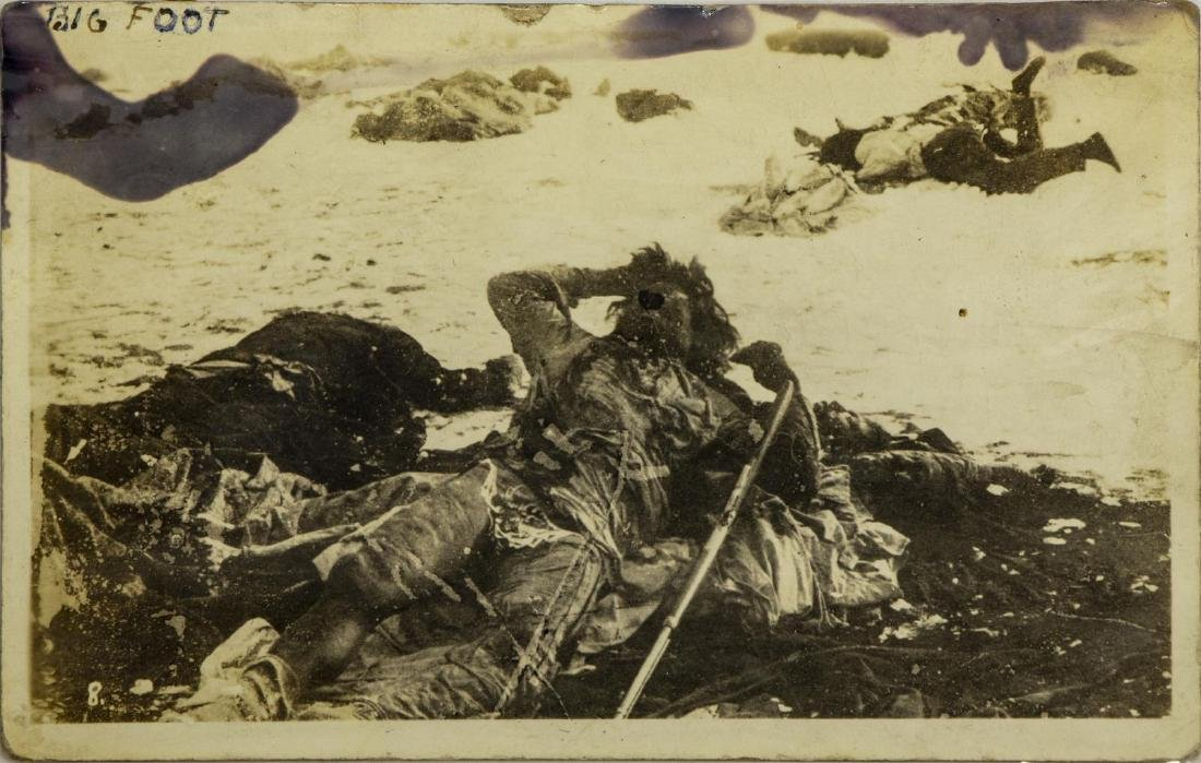 (5) POSTCARD PICTURES, WOUNDED KNEE MASSACRE - 4