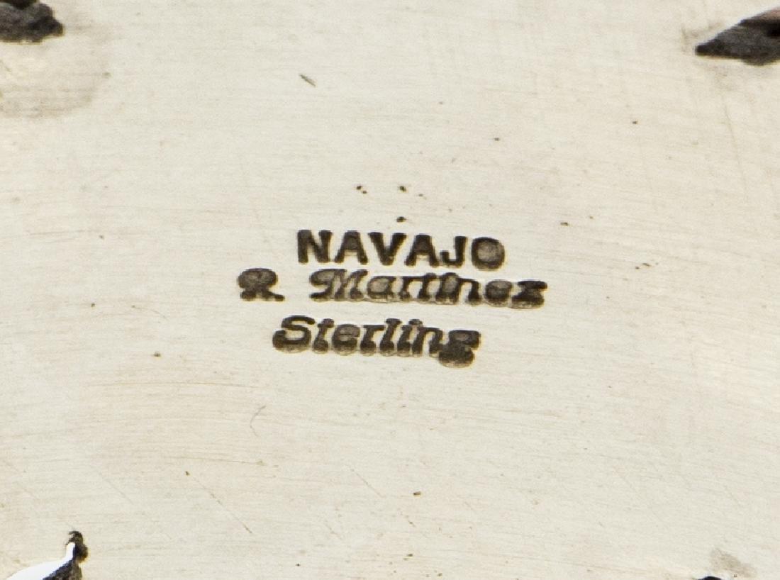 NAVAJO RICK MARTINEZ STERLING SILVER & LAPIS CUFF - 4