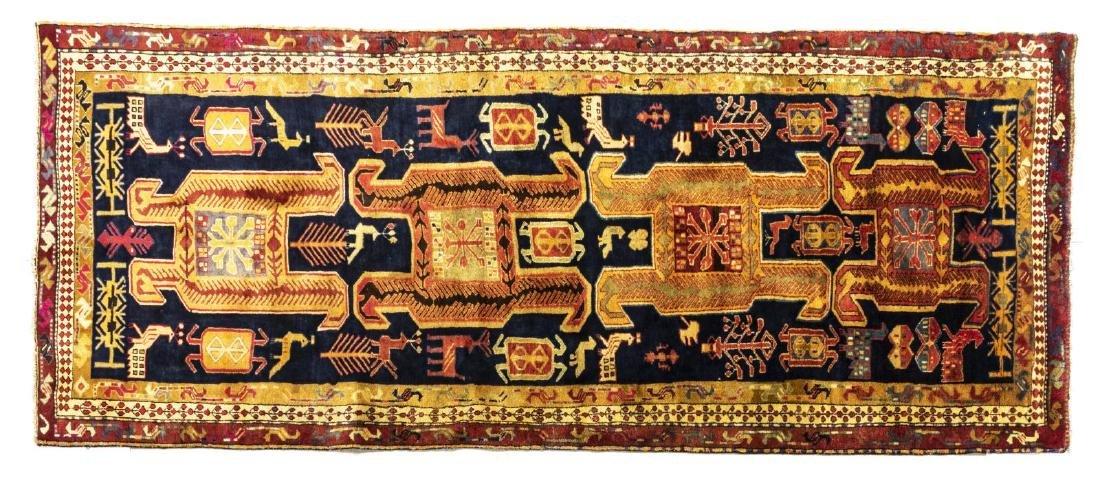 PERSIAN HAND-TIED MESHKIN RUNNER 11' X 4'1