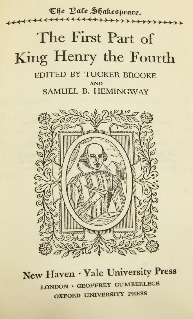 """(40 VOLUMES) """"THE YALE SHAKESPEARE"""", PLAYS, POEMS - 5"""