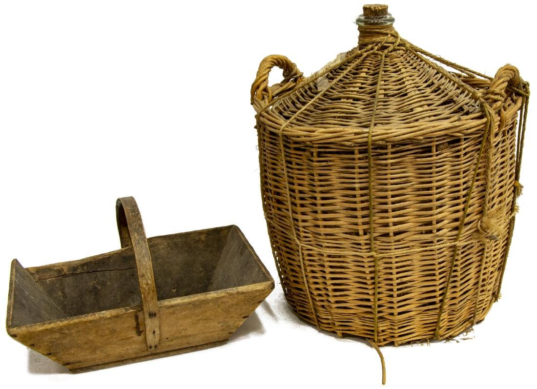 (2) FRENCH WINE BASKET AND HANDLE BOX - 2