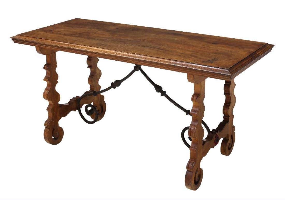 NORTHERN SPAIN BAROQUE STYLE WORK TABLE, 19TH C.