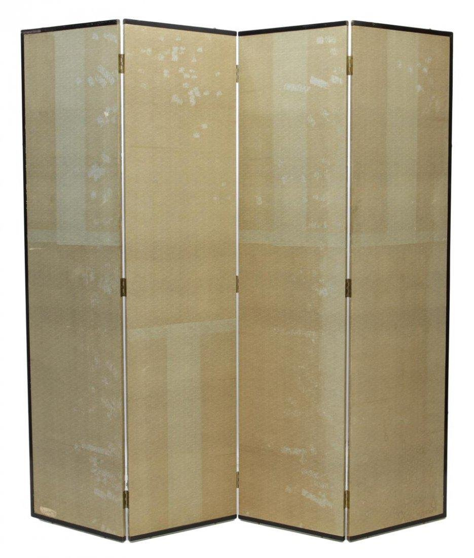 ASIAN FOUR-PANEL FIGURAL PAINTED FOLDING SCREEN - 5