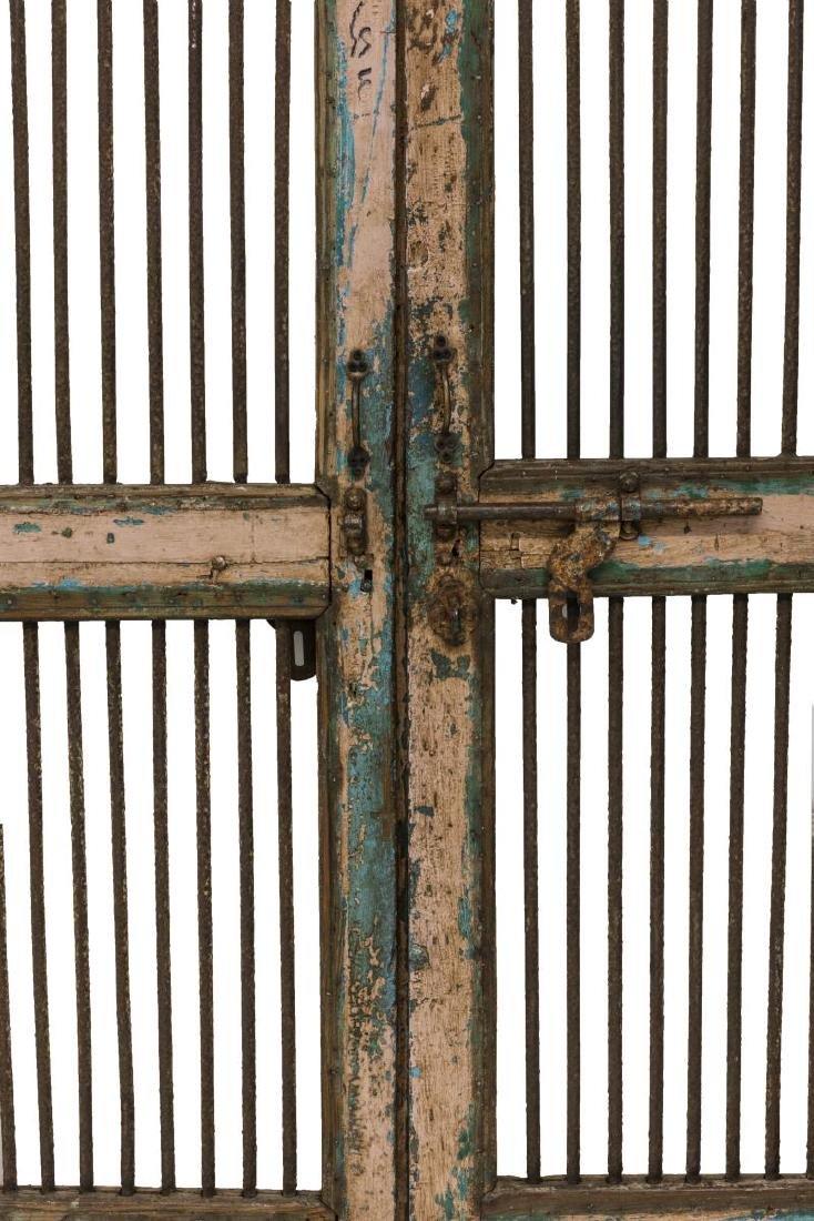 (PAIR) RUSTIC ARCHITECTURAL PAINTED DOORS - 2