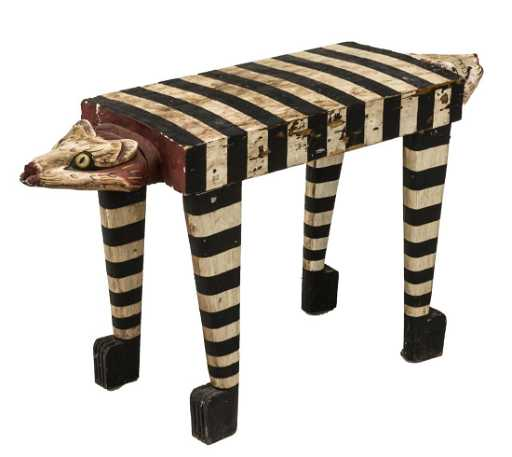 Indonesian Balinese Hand Crafted Cat Table Stand