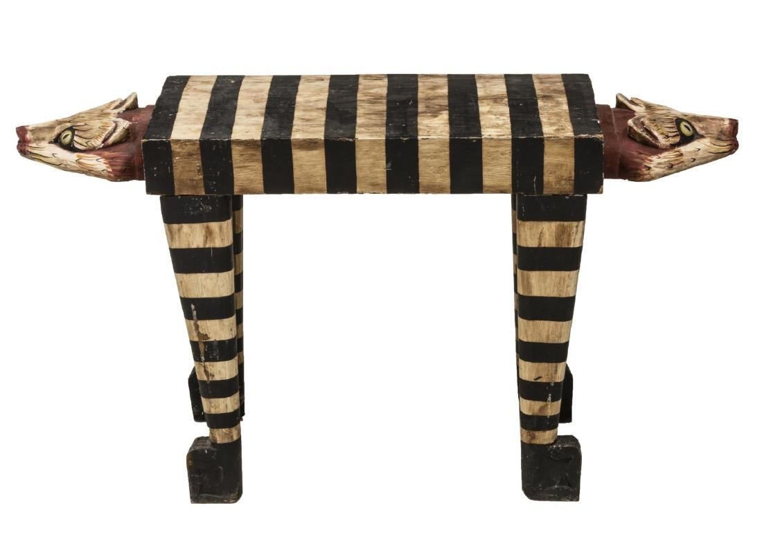 INDONESIAN/ BALINESE HAND-CRAFTED CAT TABLE/ STAND - 3