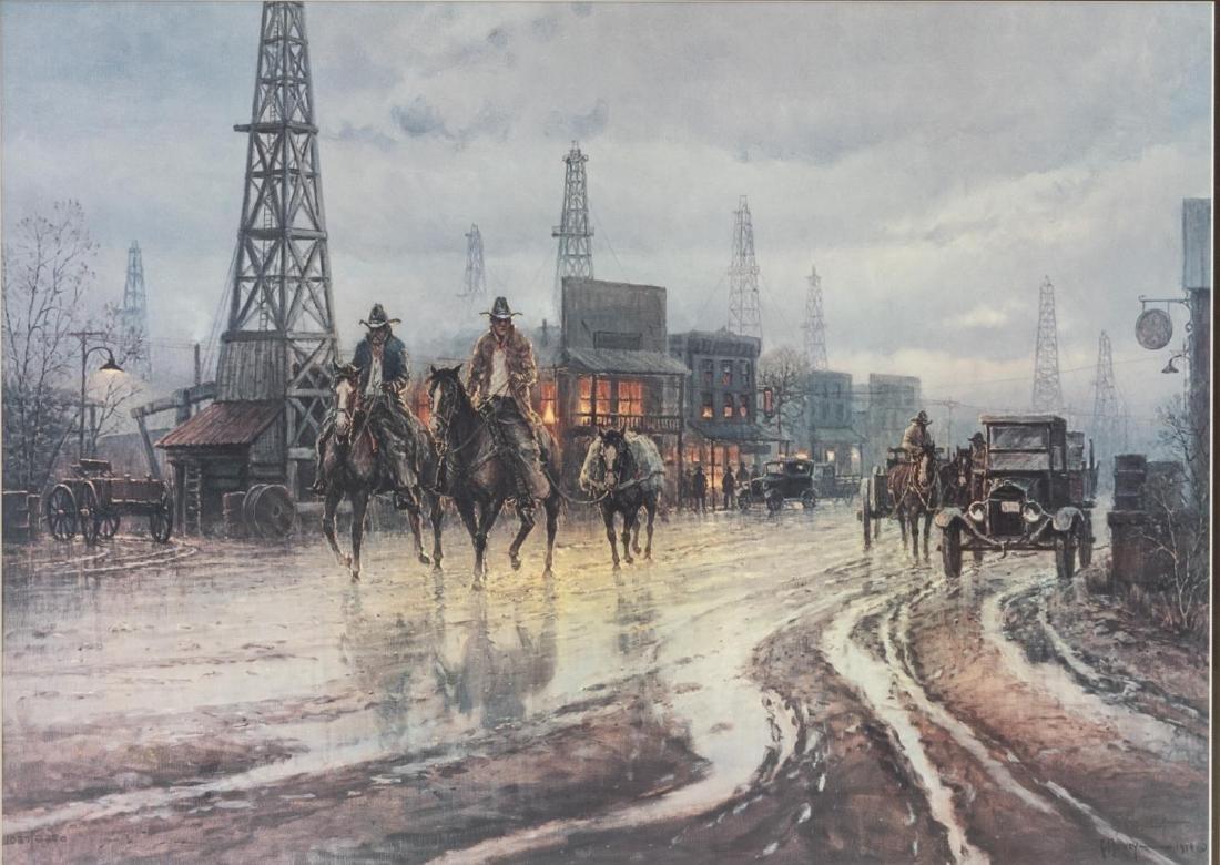G. HARVEY (TX, D.2017) 'DOWNTOWN DRIFTERS' PRINT