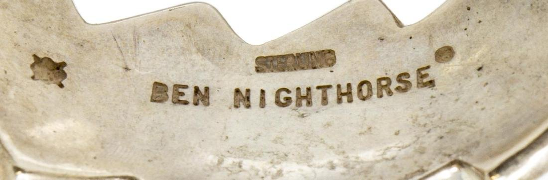 NATIVE AMERICAN BEN NIGHTHORSE STERLING CUFF - 4