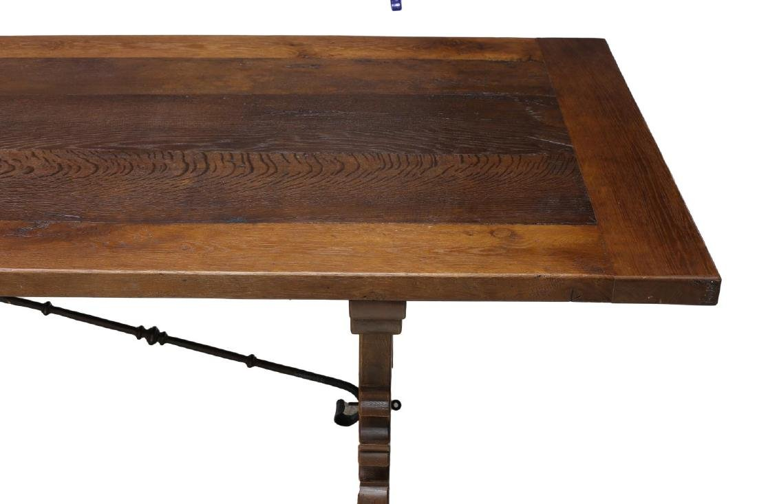SPANISH BAROQUE STYLE TRESTLE REFECTORY TABLE - 2