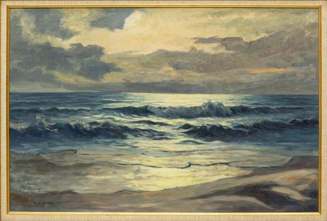 ULRICH FISHER (TX, 1887-1970) SEASCAPE PAINTING