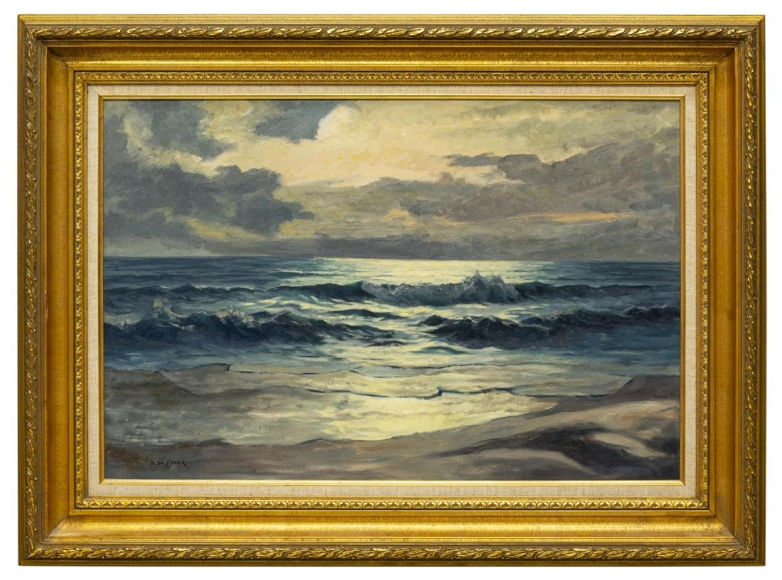 ULRICH FISHER (TX, 1887-1970) SEASCAPE PAINTING - 2