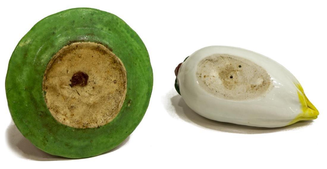 (2) CHINESE PORCELAIN ALTAR FRUIT, BUDDHA'S HAND - 3