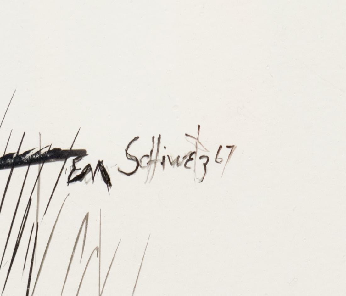 EDWARD MUEGGE 'BUCK' SCHIWETZ (D.1984) INK DRAWING - 4
