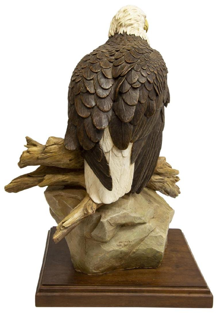 BOB GUELICH (B.1944)  LARGE HAND-PAINTED BRONZE EAGLE - 4