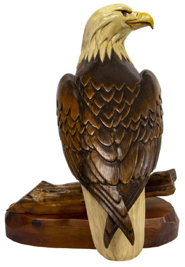 HERSEY KYLE JR. FOLK ART WOODCARVING LARGE EAGLE - 3