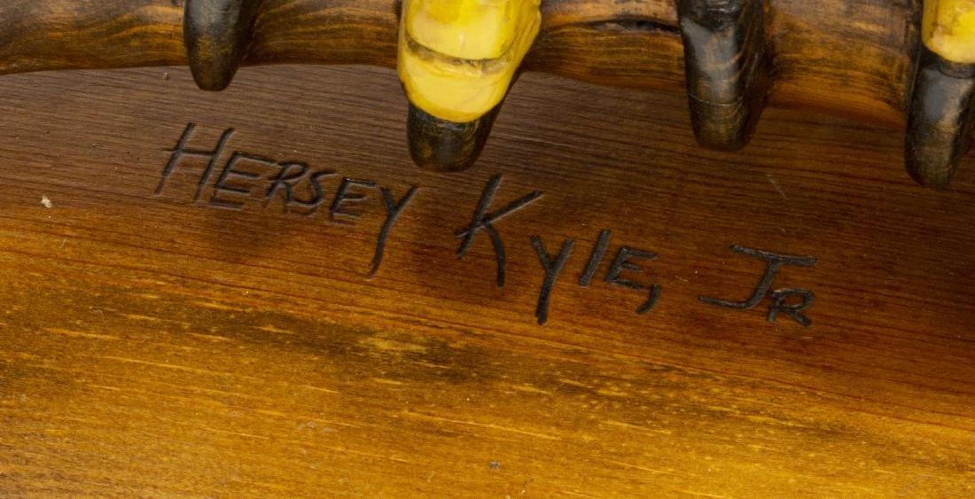 HERSEY KYLE JR. FOLK ART WOODCARVING LARGE EAGLE - 4
