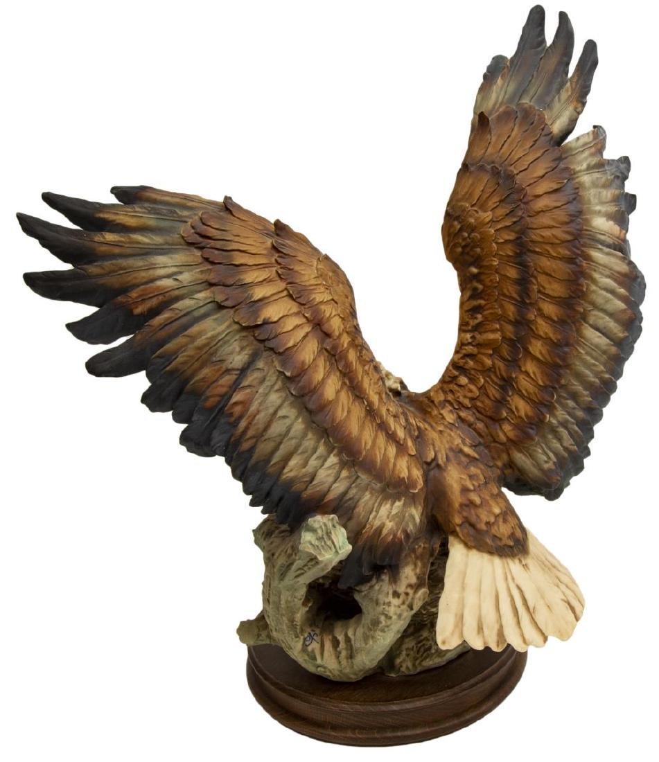 CAPODIMONTE FLORENCE PORCELAIN EAGLE FIGURE GROUP - 3