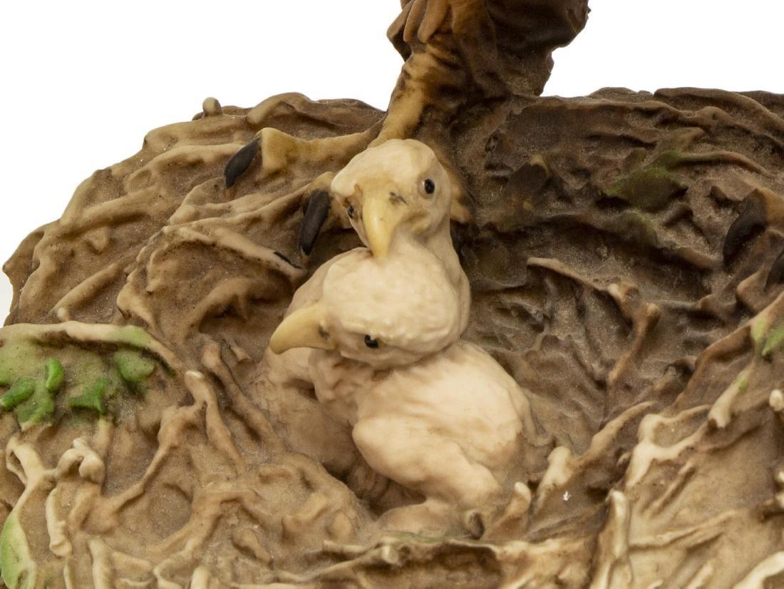 CAPODIMONTE FLORENCE PORCELAIN EAGLE FIGURE GROUP - 7