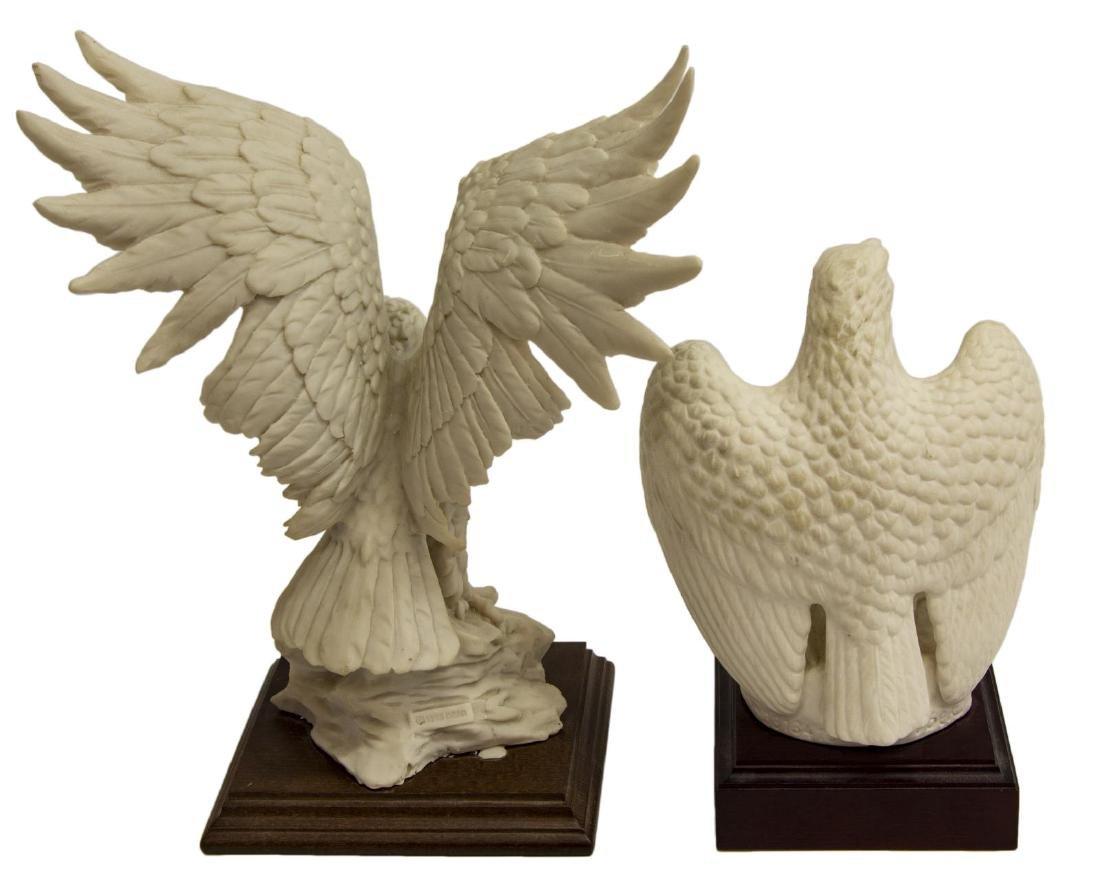 (2) BISQUE PORCELAIN EAGLE FIGURES, GOEBEL & DEAR - 2