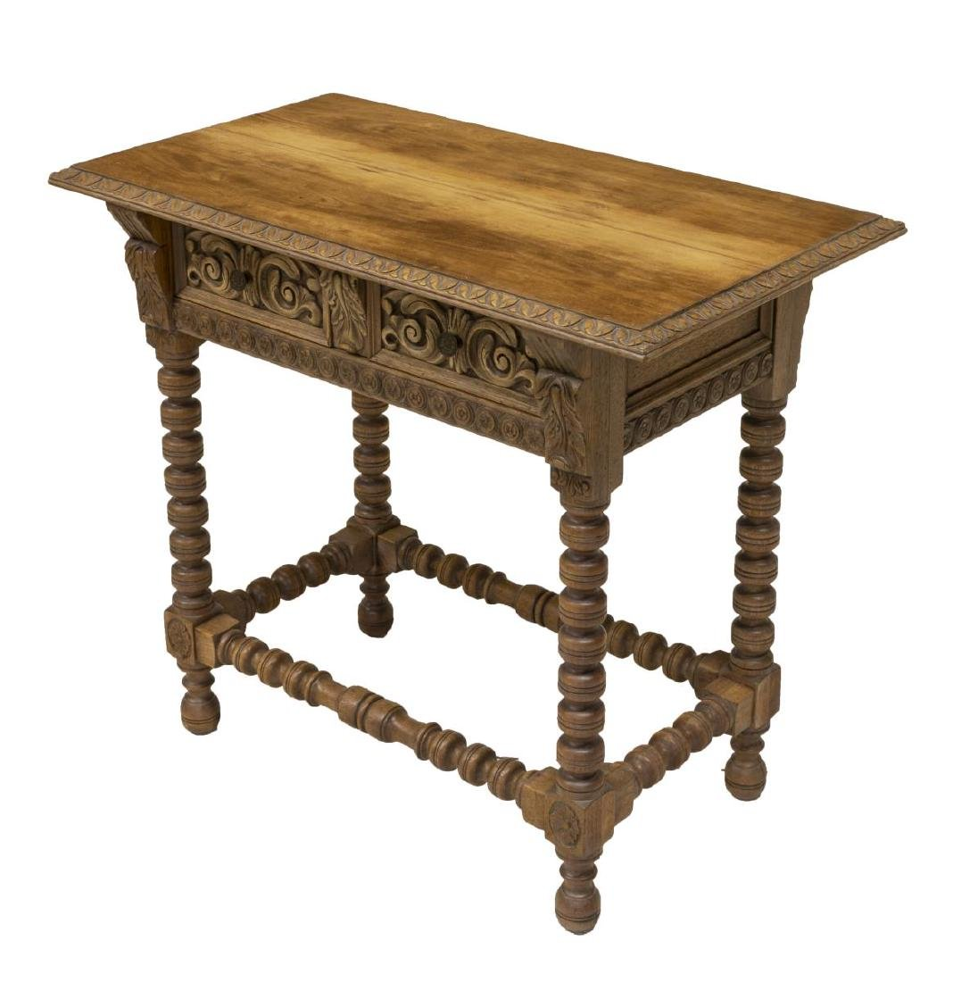 SPANISH COLONIAL STYLE TABLE, DUTCH WOODCRAFT