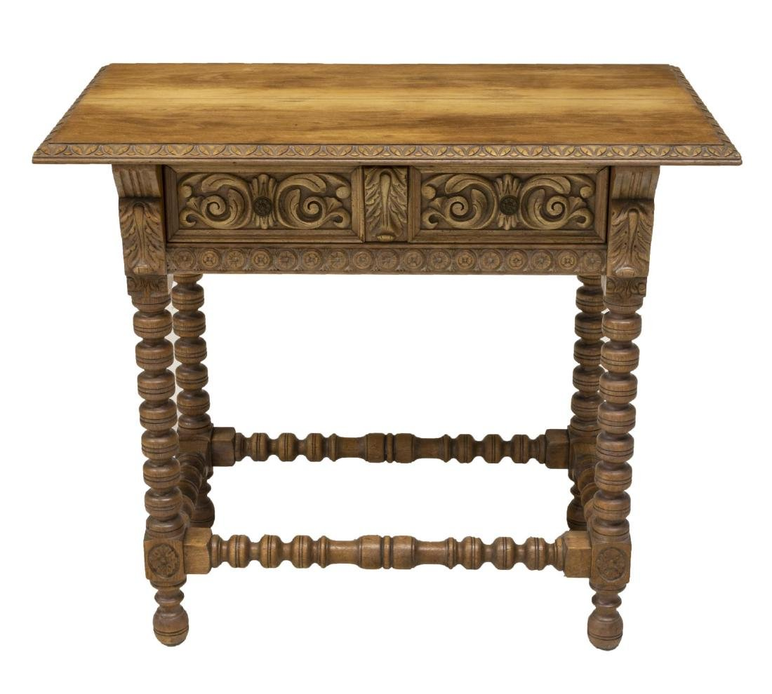 SPANISH COLONIAL STYLE TABLE, DUTCH WOODCRAFT - 2