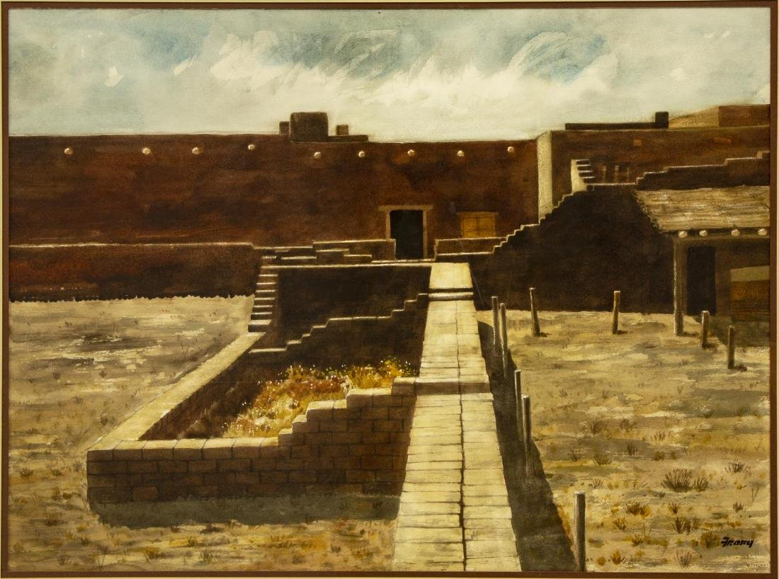 """MICHAEL FRARY FORT LEATON WATERCOLOR, 21""""x29"""""""