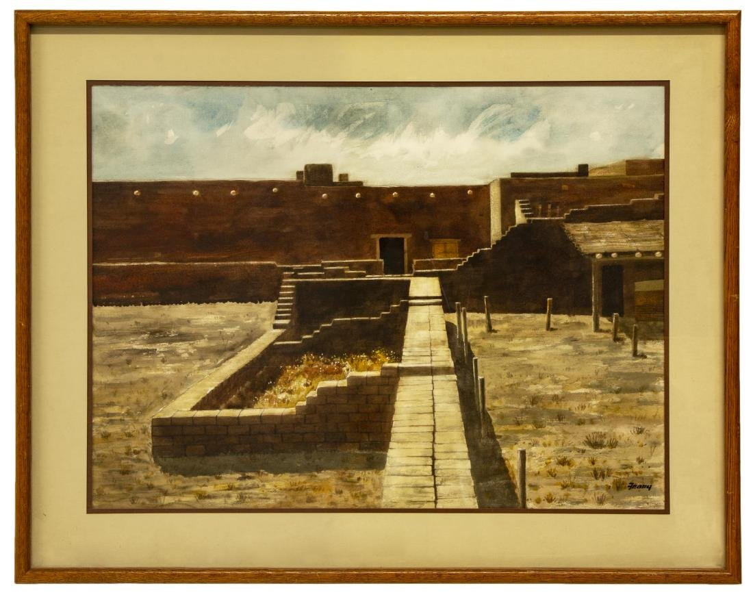 """MICHAEL FRARY FORT LEATON WATERCOLOR, 21""""x29"""" - 2"""