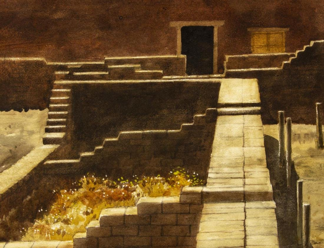 """MICHAEL FRARY FORT LEATON WATERCOLOR, 21""""x29"""" - 3"""