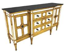 CONTEMPORARY PARCEL GILT & MIRRORED SIDEBOARD