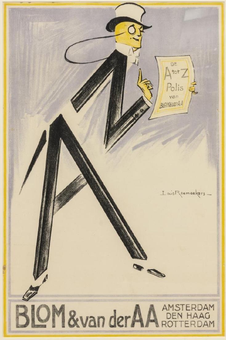 LOUIS RAEMAEKERS (D.1956) ART DECO LITHO POSTER
