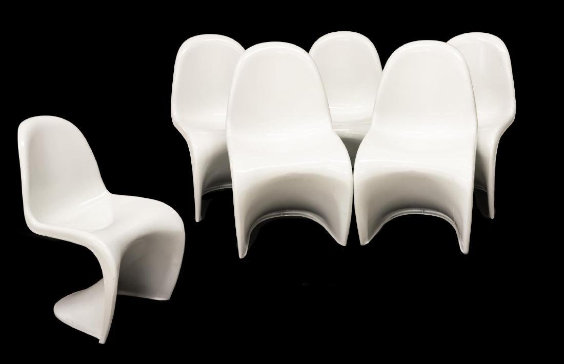 (6) MODERNIST CHAIRS STYLE OF VERNER PANTON