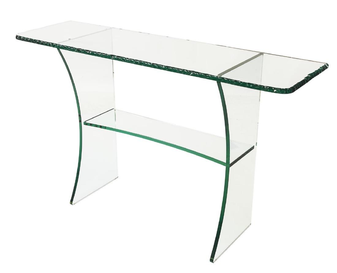 FRENCH MODERN DESIGN CRYSTAL CONSOLE TABLE