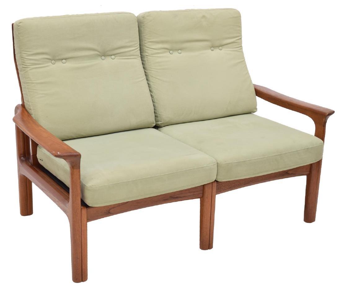 DANISH MID-CENTURY MODERN TWO-SEAT TEAK SOFA