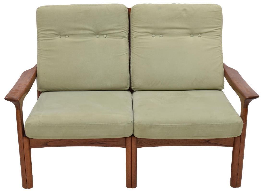 DANISH MID-CENTURY MODERN TWO-SEAT TEAK SOFA - 2