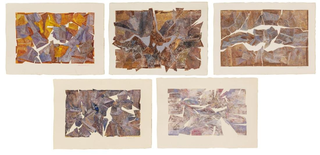 (5) VERA SIMONS (D.2012) MIXED MEDIA COLLAGES