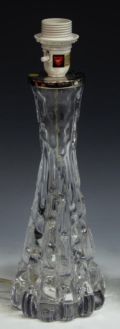 (2) CARL FAGERLUND ORREFORS ART GLASS TABLE LAMPS - 2
