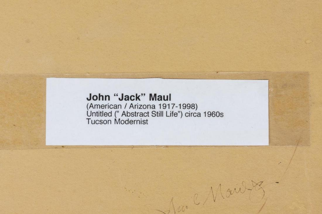 JOHN MAUL (D.1998) MODERNIST STILL LIFE PAINTING - 3