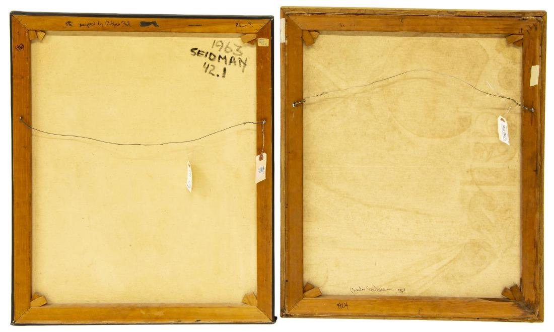 (2) CHARLES SEIDMAN (B.1942) MID-CENTURY PAINTINGS - 8