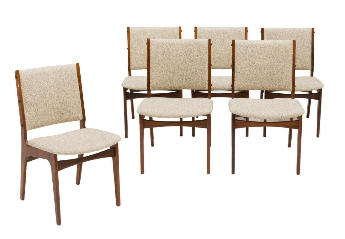(6) DANISH MID-CENTURY ROSEWOOD DINING CHAIRS