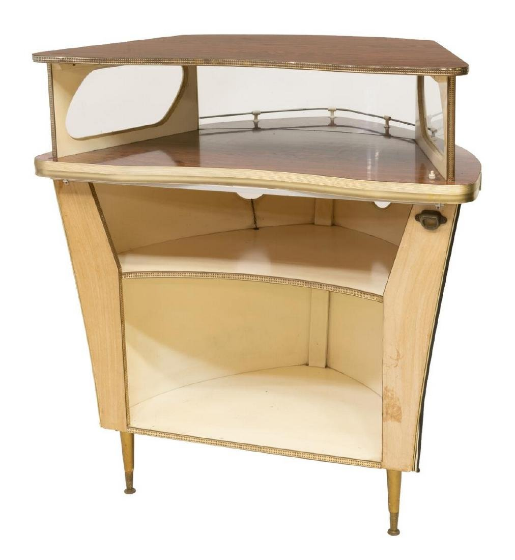 FRENCH MID-CENTURY BAR FORMED AS THE BOW OF A SHIP - 2