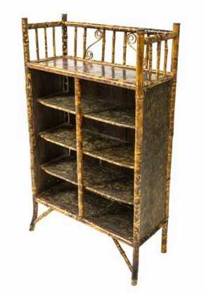 AESTHETIC MOVEMENT BAMBOO BOOKSHELF ETAGERE