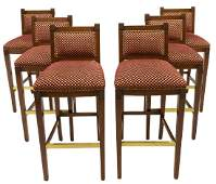 6 FANCY WILLIAM SWITZER BAR STOOLS