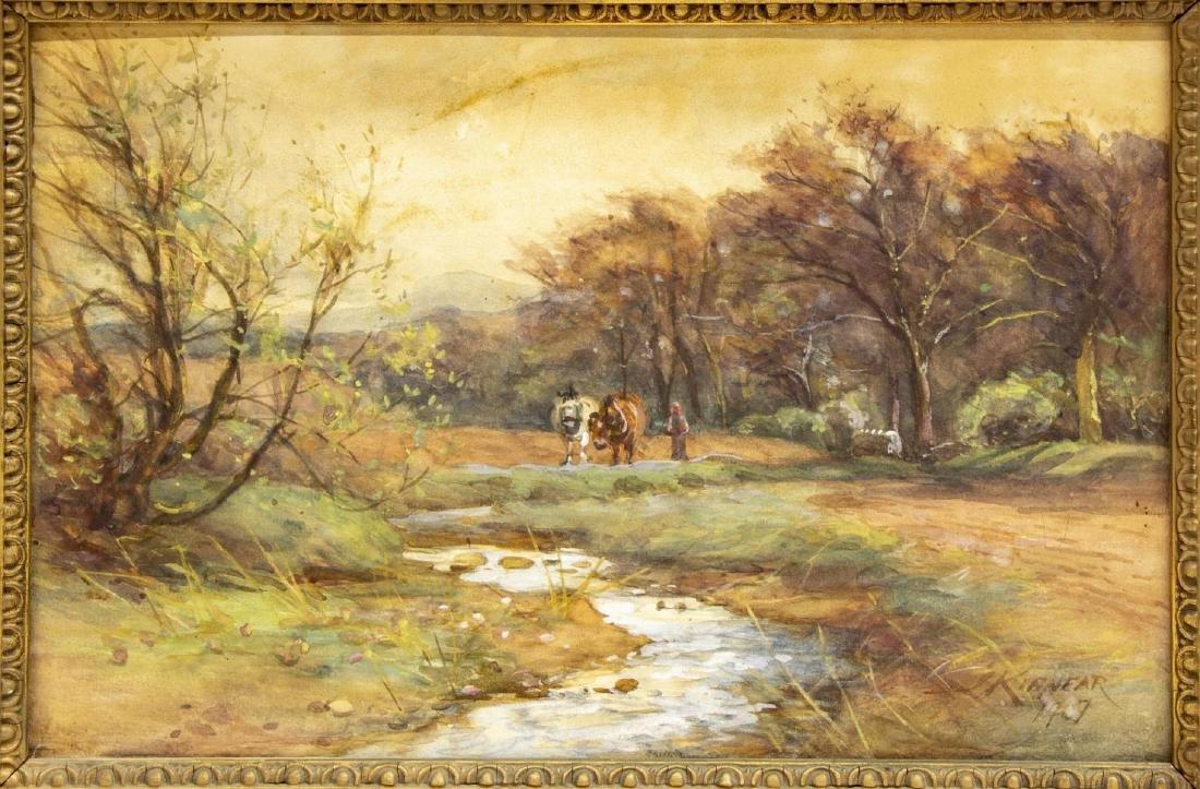 (2) LANDSCAPE PAINTINGS, JAMES SCOTT KINNEAR (D.1917) - 2